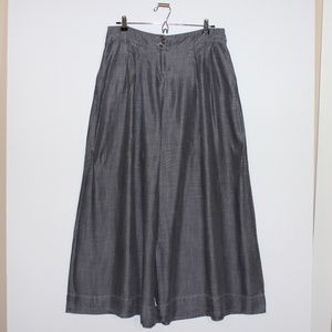 Ekol Wide Leg Gray Pants Size Large
